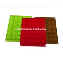Verschiedene geformte Antihaft-Party Mini Silikon Schokolade Schimmel