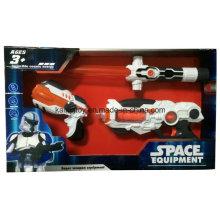 Пластиковый игрушечный меч и пистолет с мигающий свет лазера