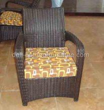 Υπαίθρια σύγχρονης PE Rattan αλουμίνιο πλαίσιο καρέκλα