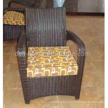 Chaise de cadre aluminium de rotin de PE moderne en plein air