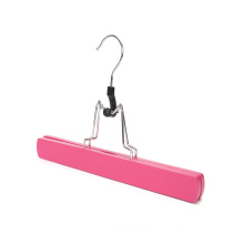 pink color wooden material hair extension hanger with custom logo