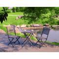 Al aire libre muebles de imitación madera 3pc conjunto chat