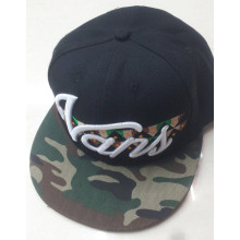 Cheap snapback cap with embroidery logo camo visor adjustable hat