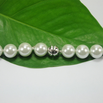 Artificial White Pearl Necklace Kostymsmycken
