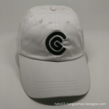 wholesales embroidery designs 6 panel white baseball cap
