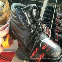 Sapatos de segurança de couro de trabalho industrial (PU Leather + Rubber Sole)