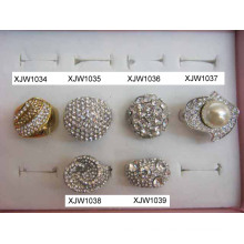 Rhinestone colorido anillos (XJW1034)