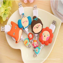 Ligne Chargeur USB Cartoon Retractable pour Mobile