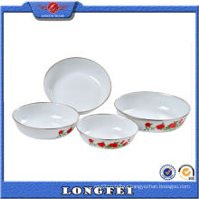 Enrich Your Good Life Enamel Dishes and Plates Set