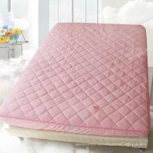 Protector de colchón de algodón Watherproof lleno de microfibra con falda