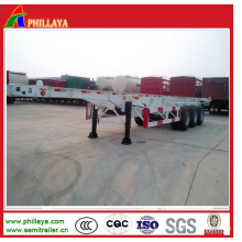 3 ejes 40ton Skeleton 40FT y 20FT Cimc camión de contenedores Semi-remolque