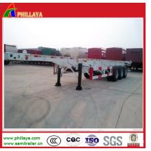 3 Axle 40ton Skeleton 40FT&20FT Cimc Container Truck Semi-Trailer