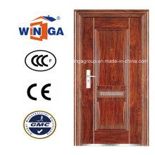 Wj Serrure en fer métallique Porte de sécurité extérieure en acier (WS-109)