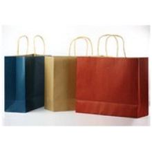 Papiertüten Customized Logo, Geschenk tragbare braune Papiertüte