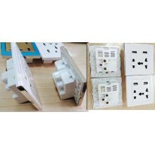 Estación de cargador eléctrico de la pared del puerto USB dual del estilo del Reino Unido / zócalo / adaptador / potencia / mercado / panel