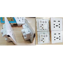 UK Style Dual USB Port Electric Wall Charger Station/Socket/Adapter/Power/Outlet/Panel