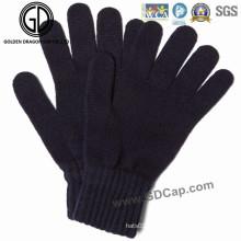Klassische einfache Wintermode Warme Strickhandschuhe