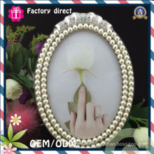 Oval White Color Design Glass Photo Frame