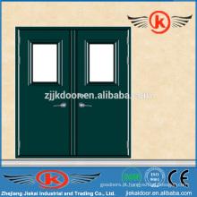 JK-F9008 tamanhos de portas duplas padrão / porta ignifugada comercial / porta ignífuga de vidro
