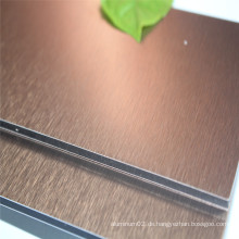 Kupfer gebürstete Konstruktion Dekorative Aluminium Verbundplatte