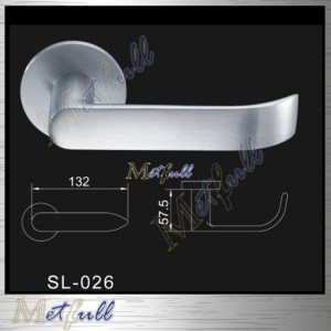Elegant Design Exterior Tuas Pepejal Lever Handle On Rose