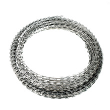 25cm roll diameter Electro galvanized barbed wire Korea quality 12kg per roll barbed wire