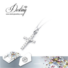 Cruz colgante de destino joyería cristal de Swarovski collar nuevo