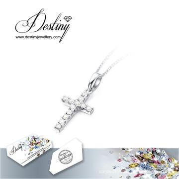 Destiny Jewellery Crystal From Swarovski Necklace New Cross Pendant