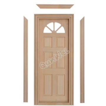 Dollhouse Miniature Wooden Yorktown Door Model DIY Unpainted