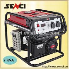 7000 watts SC8000-II 50Hz Générateur portable monophasé avec roues
