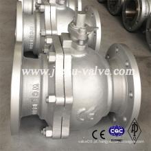 CE Pn16-Pn100 Válvula esférica com alavanca de aço carbono