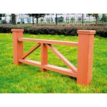 1200 * 600 2014 Eco-Friendly Venda quente baratos ao ar livre plástico composto de madeira WPC Fence