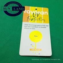 100% poliéster función anti-uv piqué UPF 50+ tejido para camiseta