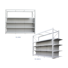 Multi-Function Supermarket Metal Black Gondola Shelving