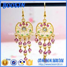 Boucles d'oreilles en or bon marché de haute qualité pour la vente en gros