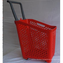 Large Size Supermarket Plastic Shopping Basket (ZC-18)