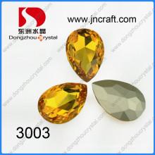 Pedras de fantasia de cristal Topázio de lágrima Topázio