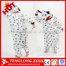 Traje de fiesta de vacaciones de halloween niños adultos trajes de animales de perro