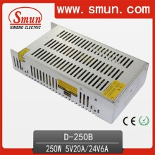 Smun 250W Dual Output 5V 24V Switching Power Supply