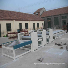 Large magnesite fire door core plate production line