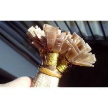 Extensiones rizadas 100% de la extremidad plana del pelo ruso Extensiones rubias 1 de la perla del pelo de Keratin del filamento 1s / g