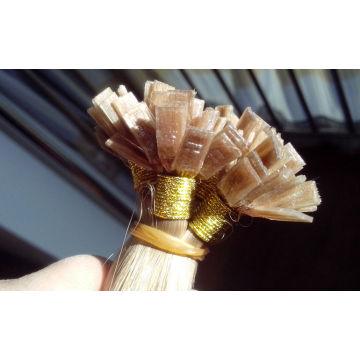 Hohe Qualität Fabrikpreis Russische Haare doppelt gezogen Keratin flache Spitze Haarverlängerungen