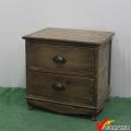 Vintage Country Tabletop Kleine 2 Schublade File Cabinet