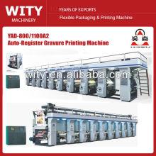 2015 de alta velocidad de alta precisión YAD-A Serie automática 8 color rotograbado precio máquina de impresión