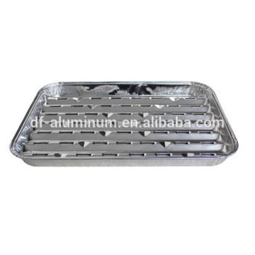 Papel de alumínio com ventilação inferior alimentado com churrasqueira panela de alumínio com panela de alumínio com fabricação de furos