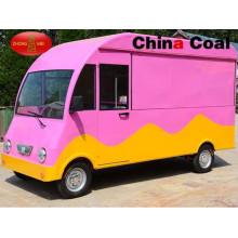 Camioneta móvil rosa para comida rápida en venta en Europa
