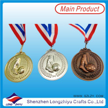 Fußball-Medaille Zink-Legierungs-3D sterben Form-Goldsilber-Bronzemedaille, Medaille mit Ihrem eigenen Logo
