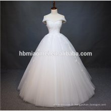 Manches de luxe lourde perlée broderie Chine guangzhou robe de mariée