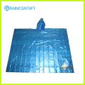Plain Disposable PE Rain Poncho Rpe-079