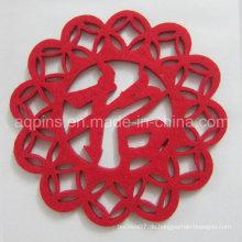 Heißer Verkauf Weihnachtsdekoration Polyester Filz Untersetzer (Coaster-29)